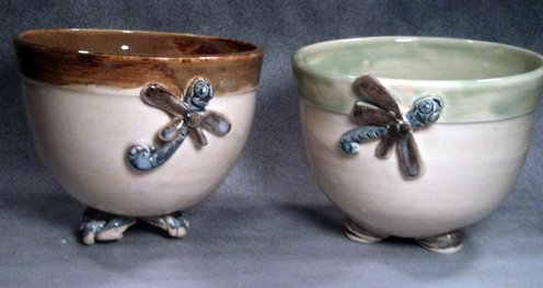 Dragonfly Bowls with Feet