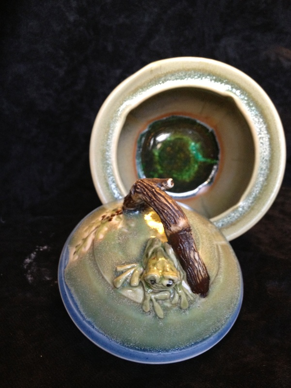 Frog Wish pot with Glass bottom