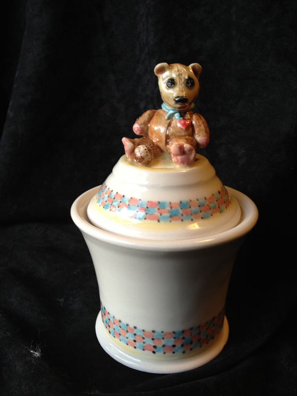 Teddy Bear Wish Pot