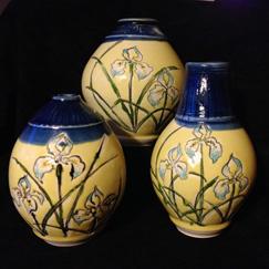 Ball Vases painted iris