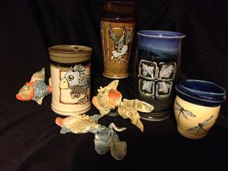 Various porcelain pieces